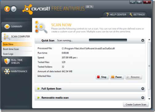 Avast! Free antivirus
