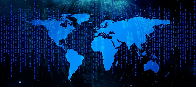 Globe with Binary