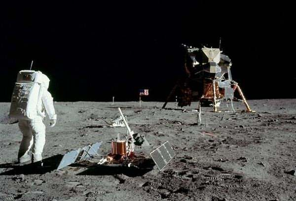 First Human Walk on surface of the Moon